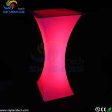 led illuminate bar table , plastic led bar furniture ,led coffee table