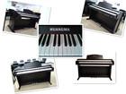 Glamorous upright piano shaped