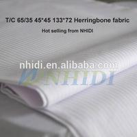 T/C 65/35 32*150D herringbone pocketing fabric (poplin fabric)