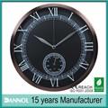Guangzhou 12' de quartzo do metal estação meteorológica digital relógio de parede china réplica relógios