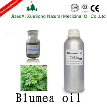 China best seller natural blumea essential oil with 45% thujone for warm Menstruation stop blood and sterilization in bulk sale