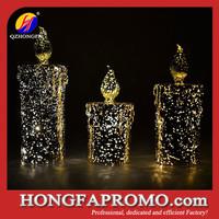decorative glitter led candle light wholesale