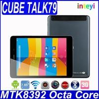 IN STOCK Cube U55GT-C8 Cube Talk79 octa core MTK8392 Cube talk 79 U55GT C8 7.9 Inch Retina 2G 16G GPS FM 3G Phone Call Tablet