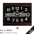 Reloj digital de pared de la oficina con números claros y grandes