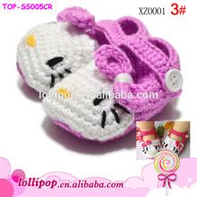 Fashion cute hot sale crochet knitting baby shoes baby girl shoes
