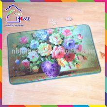 Oil paint flower top quality newest colourful eva foam low carbon kid mats