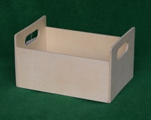 2014 new hot sale cheap custom unfinished eco-friendly wood fruit crate with handle