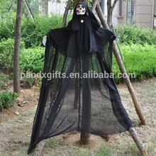 2014 nuovo stile decorazione di halloween appeso fantasma con led rosso occhi e il suono