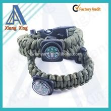 wholesale kids paracord bracelet whistle buckle with compass