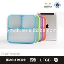 Cube shape plastic sandwich lunch box