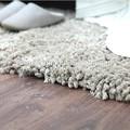 Roving cinza feitas sob encomenda do tapete, shaggy tapetes para sala de estar