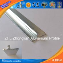 Good! OEM home furniture decorative aluminum sheet / brushed anozided extruded profile aluminum edge banding