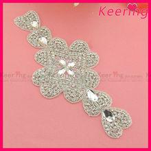Popular design wholesale bridal rhinestone applique WRA-463