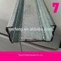 Q345 conformado en frío de acero structur, galvanizado de acero del canal c, correa para techos