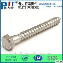 Din571 de cabeza hexagonal de madera ( entrenador tornillos ) made in China