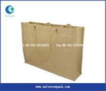 customized cheap jute burlap bag plain