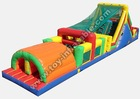 adult and kid inflatable water obstacle