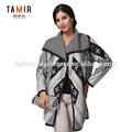 la moda de punto de cachemir abrigo de invierno para las mujeres
