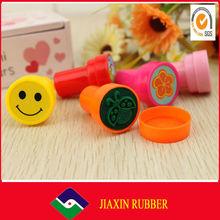 Mini round popular Plastic toy stamp for kids