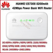 Original Unlock DC-HSPA+ 42Mbps HUAWEI E5730S Portable 3G Power Bank WiFi With 5200mAh Power Bank