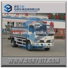 small fuel tanks trucks 3000L 4000L oil tank truck Dongfeng truck fuel flow meter mobile diesel fuel tank for sale