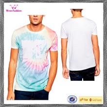 Soft-touch Jersey Custom Pattern Tie Dye Print T Shirt