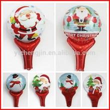 2015 hot selling christmas festival aluminium Inflatable Santa Claus foil Balloon for children