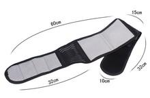 Tourmaline magnet therapy self-heating back support belt/back brace