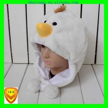 variety new fluffy plush animal insulated earflap hat green children paper straw hat