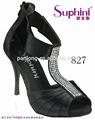 2015 nuevo producto elástico cómodo zapatos de tango, negro/blanco/azul/de plata de la boda nupcial zapatos