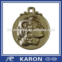 customized 3d portrait keychain metal for souvenir