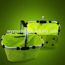 minum frame folding shopping basket ,shopping bag