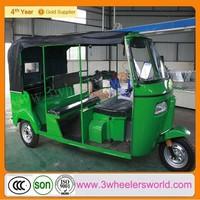 250cc Displacement 6 passenger india bajaj style tricycle