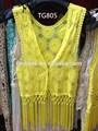 100% de algodón bordado de encaje de ganchillo tg805 blusa