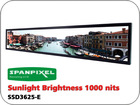 36 inch high brightness sunlight readable outdoor industrial 1000 nits stretched bar LED LCD display monitor