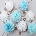 Venta al por mayor artículos de fiesta de papel pom poms, guirnaldas de papel decoración
