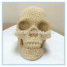 Wholesale good quality smiling halloween skull head decoration