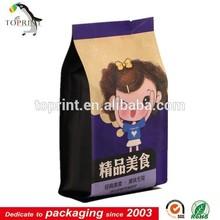 Custom Cute Wax Coated Paper Bag Food With LOGO Printing