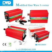 Modified sine wave power inverter 2000 watt 12 volt dc to 220 volt power inverter for house