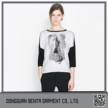 Wholesale discount ladies long sleeve t shirt