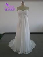 Plus Size Cheap CL-E038 Chiffon A-line Empire Pleats Detachable jacket Evening Dresses 2014
