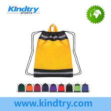 Blank cinch bag with reflective Trim
