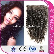 Alibaba wholesale high quality brazilian hair kinky hair clip on extensions
