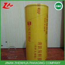 high transparent super clear pvc cling film food grade adhesive