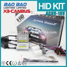 Automobile HID XENON KIT, hid xenon kit 12v 35w 6000k h7, repair hid canbus ballast X3 AC , BAOBAO Lighting