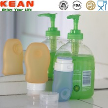 Adsorbable to Wall Squeeze Silicone Liquid Soap Bottle