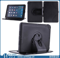 Wholesale Armor Case For iPad 5 Case, 360 Rotation Stand Cover Case For iPad Air TPU & PC