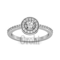 Hot sell Fashion big zircon stone bezel setting jewelry 925 silver ring Y00584