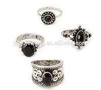fashion women latest vintage 4pcs rhinestone large ring set R799-109