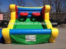 Cute design basketball hoop for shooting basketball,PVC inflatable basketball hoop toys